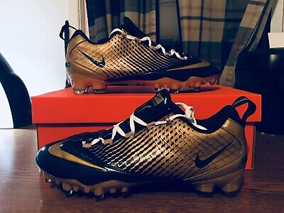 04f0ba9df Nike Zoom Vapor Carbon Fly 2 TD Football Cleats Size 11 Navy Gold . Nike