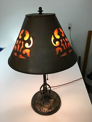 Rare Original Antique Arts and Crafts Table Lamp by Apollo Studios, New York