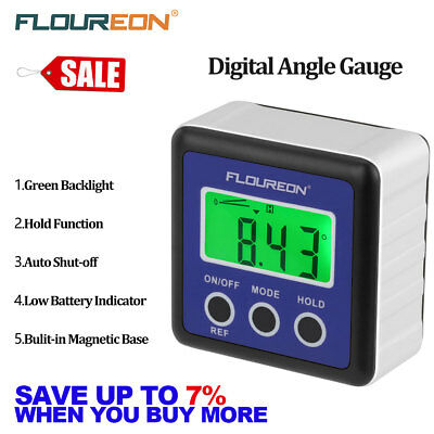 LCD Digit Level Bevel Box Gauge Protractor Inclinometer Angle Finder Meter IP54