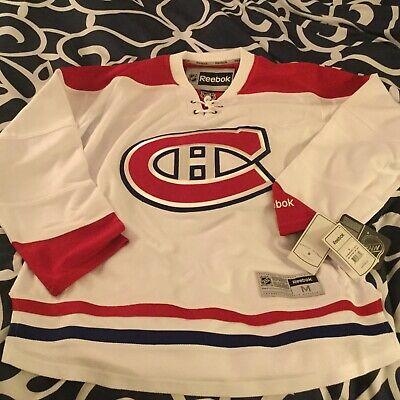 Reebok Premier NHL Jersey Montreal Canadiens Team Habs White Alt men's M