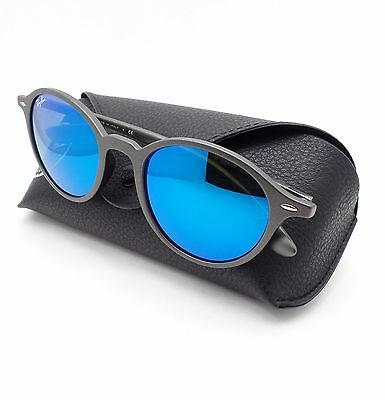 c7c20b4c5c Ray Ban Tech 4237 6206 17 Matte Grey Blue Mirror Sunglasses New Authentic r