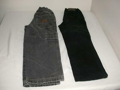 2 Pair Of Boys Pants Size 7 Slim Faded Black Jeans Route 66 & Black Corduroy Fc