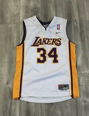 bc61633da VINTAGE NIKE TEAM Los Angeles Lakers Shaq  34 Jersey Size Small ...