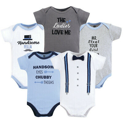 eed9f2815 HUDSON BABY BOYS 2 Pack Cotton Footless Jumpsuit Sleepers 0-3 3-6 6 ...