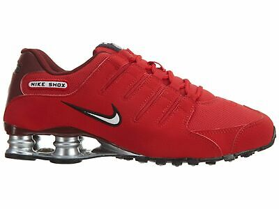 new style 8da4b bb3ca NIKE SHOX NZ Men's Running Shoes University Red 378341-601