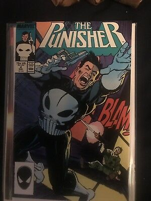 THE PUNISHER #4 (1987 MARVEL) 1ST APP OF MICROCHIP NETFLIX NM- Many Pics