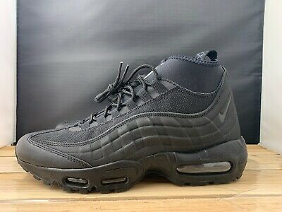 756c49cdb980 NIKE AIR MAX 95 Sneakerboot Men s Size 8 Triple Black 806809-002 New ...