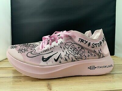 46e8b9391b5f2 Nike Zoom Fly SP Fast Nathan Bell AT5242 100 Pink Foam White Black Size 9.5