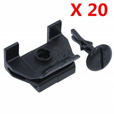 Car Black Front Fender&Bumper Cover Clip Kit Replaces For Toyota Camry Corolla
