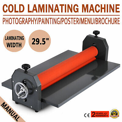 All Metal Frame 29.5In 750MM Manual Cold Roll Laminator Mount Laminating Machine