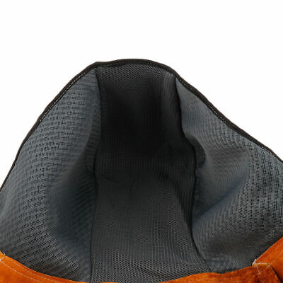 EG_ Cowhide Leather Welding Clothing Apron Cover Head Neck protected Welder Hat