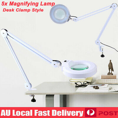 5X Magnifying Lamp Daylight Magnifier Lens Desk Table Task Craft Work Bench