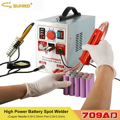 SUNKKO 709AD 220V Battery Pulse Spot Welder for 18650 Soldering Welding Machine
