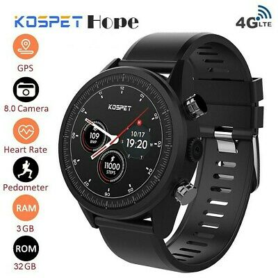 KOSPET Hope 4G Smart Watch Android Bluetooth Touch Screen 3GB+32GB Waterproof