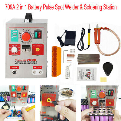 SUNKKO 709A 110V Battery Pulse Spot Welder For 18650 Soldering Welding Machine