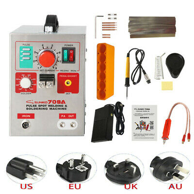 SUNKKO 709A 220V Battery Pulse Spot Welder For 18650 Soldering Welding Machine