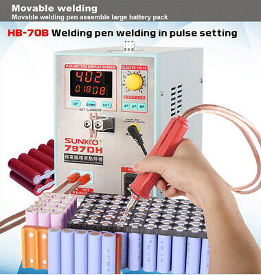 SUNKKO 797HD 110V Battery Pulse Spot Welder for 18650 Soldering Welding Machine