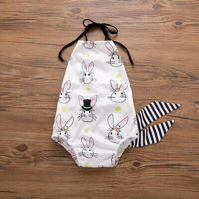 My 1st Easter Newborn Infant Baby Girl Romper Bodysuit Sunsuit Outfit Clothes US