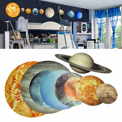 Childrens/Kids Bedroom Wall Planets Sun Space Solar System Star Sticker Decal