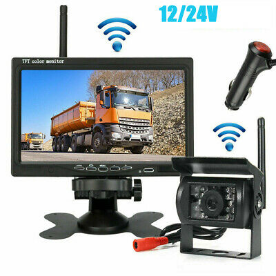 Wireless Car Rear View Reverse Camera + 7 Inch TFT-LCD Monitor Kit For Parking