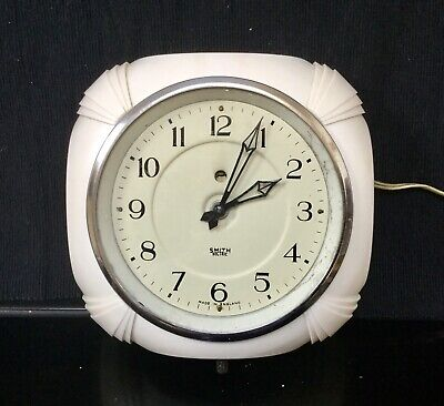Smiths Sectric Art Deco Bakelite Wall Clock 1930s WORKING