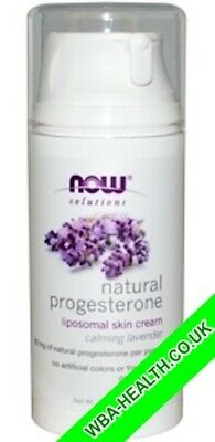 NOW NATURAL PROGESTERONE BALANCING SKIN CREAM WITH LAVENDER 3 oz (85g)