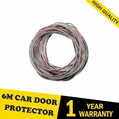 6M Chrome Porte Voiture Bord Garde Protecteur Moulage Trim Molding Strip  Clair