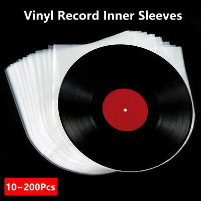 10~200Pcs 3Mil Inner Sleeves Cover Clear Plastic For 12'' LP Vinyl Record 33 rpm
