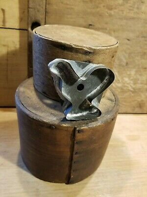 Antique Primitive Small Biscuit Cookie Cutter Chicken- Tin- Mid To Late 1800'S