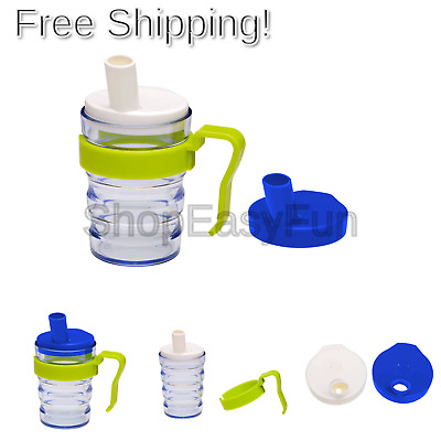 First Aid Only Beak Cup, 2 Tops for Liquids and Porridge, Removable Handle, S...