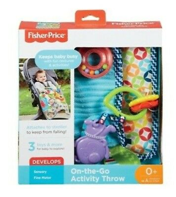 NEW Fisher Price ON THE GO ACTIVITY THROW - Soft Washable Play Rug with Toys