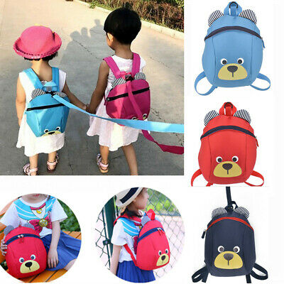 Kids Baby Cartoon Toddler Walking Safety Harness Backpack Strap Bag With Reins