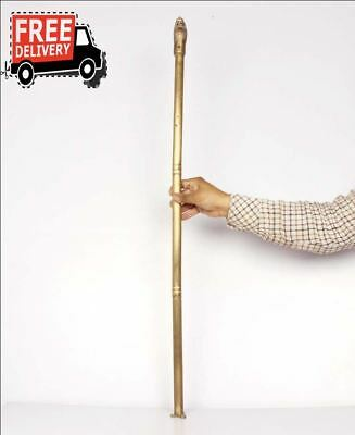 Antique Look Hand Carved Metal Lion Head Cane Walking Stick Handle Rare 6776