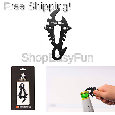 Roxon Wallet Card Multi Tool with Rope Cutter, Wrench, Phillips Screwdriver, ...