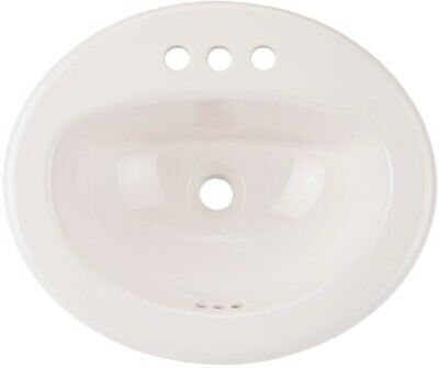 aquasource white drop in oval bathroom sink overflow sinks furniture rh picclick com aquasource round bathroom sink aquasource white vessel round bathroom sink with overflow