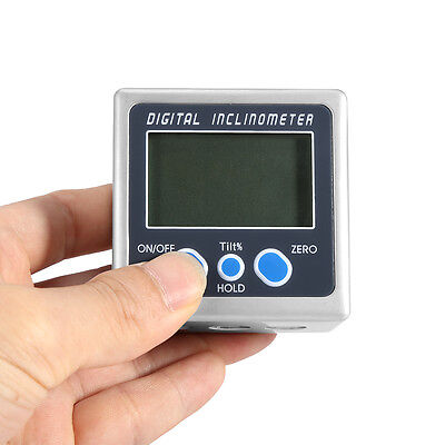 Digital Angle Cube Finder Magnetic Inclinometer Gauge Protractor Level Saw IDM