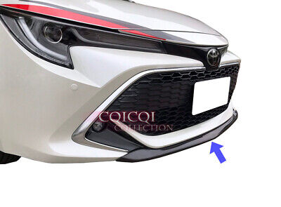 Glossy Black Front Spoiler For Toyota 2019 Auris Corolla Hatchback