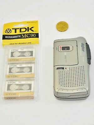 Digitor wd 300 Voice Recorder With 3 Mini Cassettes 60 Minutes Vintage Working