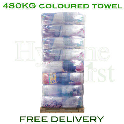 480kg Pallet Coloured Terry Towel Rags Cloths Wipers Wiping Cleaning Polishing