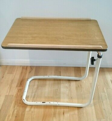 """Vintage Retro Adjustable Height Table Over-bed/Over-chair 23-36"""" Tall"""