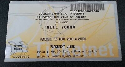 used ticket billet place concert france colmar NEIL YOUNG 15-08-2008