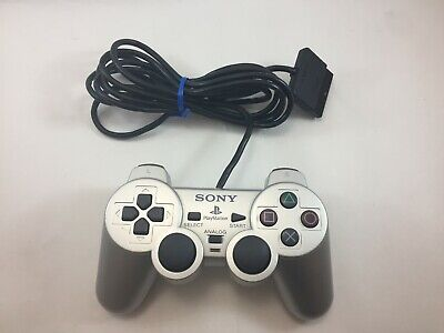 Official Sony Playstation 2 Silver DualShock 2 Controller