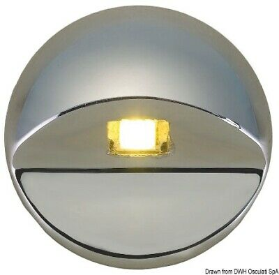 Osculati AISI 316 Stainless Steel Round Blue LED Courtesy Light 12V 0.2W