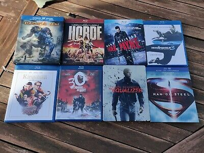 Lot 8 Blu Ray The Equalizer, Pacific Rim, Man Of Steel...