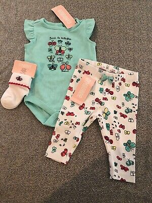 d6a5a3e0b83 NWT Gymboree baby girl SPRING 3-piece teal butterfly socks SET 0 3 month