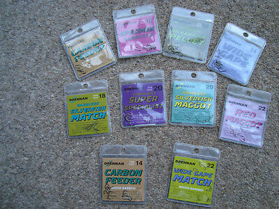 Various Drennan Loose Hooks Barbed , Barbless , spade end and eyed