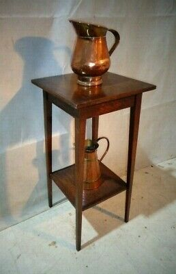 Antique Arts & Crafts Oak Sofa Table Scottish School End Table Lamp Table