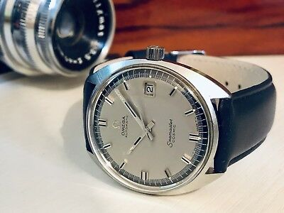 Omega Seamaster Cosmic Automatic Date Grey Dial vintage mens 1967 watch + Box