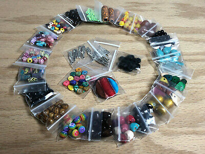 Large Lot Of Assorted Beads & Charms Jewelry Making Supplies 25 Bags #A16