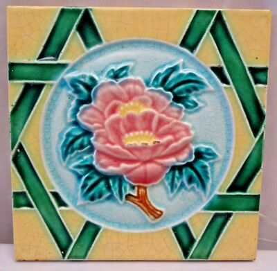 Tile Vintage Majolica Porcelain Art Nouveau Japan Architecture Collectibles #66